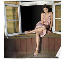 fashion model on window Poster