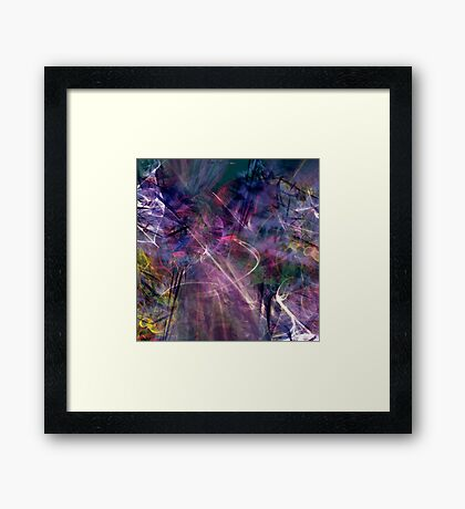 beautiful colorful abstract art Framed Print