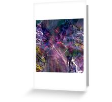 beautiful colorful abstract art Greeting Card