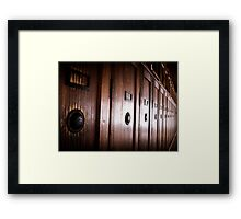 Lockers - Dachau Framed Print