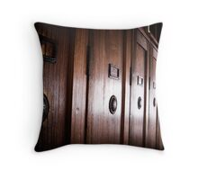 Lockers - Dachau Throw Pillow
