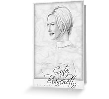 Cate Blanchett portrait Greeting Card