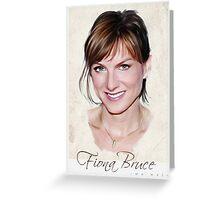 Fiona Bruce portrait Greeting Card