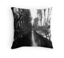 River - Dachau Throw Pillow