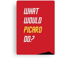 What would Picard do? Canvas Print