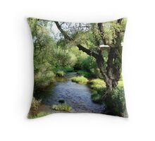 Water and Willow Throw Pillow
