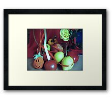 FRIENDS WHO KEEP THE DOCTOR AWAY Framed Print
