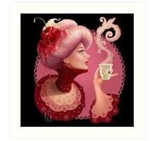 Tea and a Cupcake Art Print