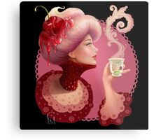 Tea and a Cupcake Metal Print