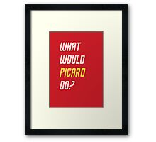 What would Picard do? T-shirt Framed Print