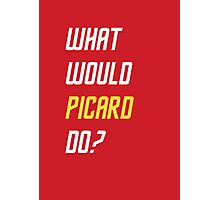 What would Picard do? T-shirt Photographic Print