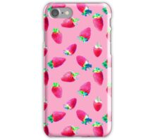 Pink Strawberry Pop iPhone Case/Skin