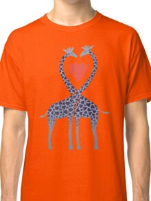 Giraffes in Love - A Valentine's Day Illustration Classic T-Shirt