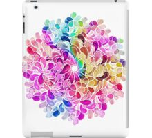 Rainbow Watercolor Paisley Flower iPad Case/Skin