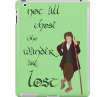 Not all those who wander Tolkien iPad Case/Skin