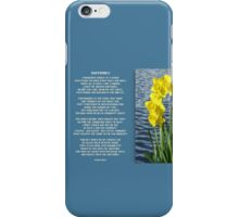 Wordsworth's Dances with the Daffodils iPhone Case/Skin