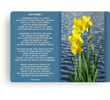 Wordsworth's Dances with the Daffodils Canvas Print