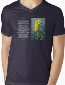 Wordsworth's Dances with the Daffodils Mens V-Neck T-Shirt