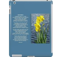 Wordsworth's Dances with the Daffodils iPad Case/Skin