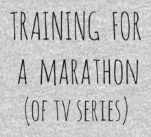 training for  a  marathon (of tv series) by FandomizedRose