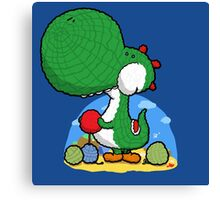 Wooly Egg Chucking Dinosaur Canvas Print