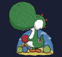 Wooly Egg Chucking Dinosaur One Piece - Short Sleeve