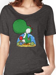Wooly Egg Chucking Dinosaur Women's Relaxed Fit T-Shirt