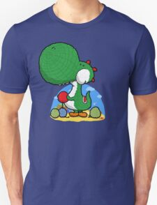 Wooly Egg Chucking Dinosaur T-Shirt