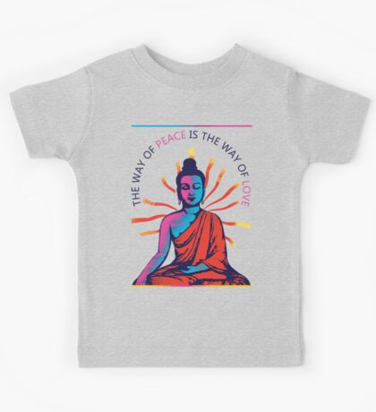 I want Love and Peace Kids Tee