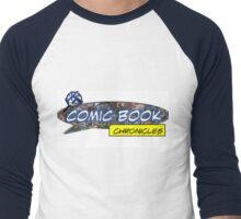 Comic Book Chronicles logo Men's Baseball ¾ T-Shirt