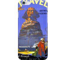 Egypt vintage travel poster Restored iPhone Case/Skin