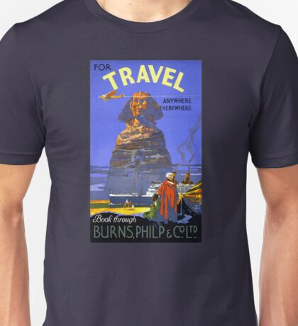 Egypt vintage travel poster Restored Unisex T-Shirt