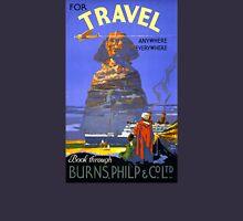 Egypt vintage travel poster Restored Unisex T-Shirt