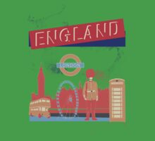 London England UK Kids Tee