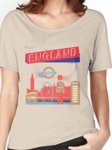 London England UK Women's Relaxed Fit T-Shirt