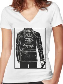 The Army Doctor Women's Fitted V-Neck T-Shirt