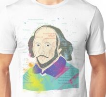 Portrait of William Shakespeares Unisex T-Shirt