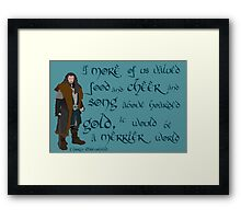 The Hobbit Merrier World Framed Print