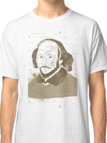 Vintage Portrait of William Shakespeares Classic T-Shirt