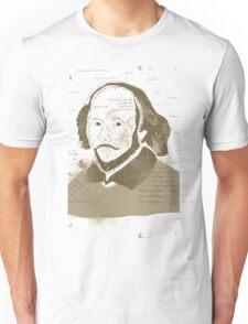 Vintage Portrait of William Shakespeares Unisex T-Shirt