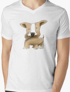 chubby doodledog Mens V-Neck T-Shirt