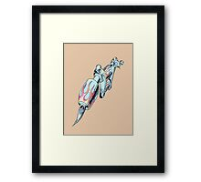 Chrome Tattoo Machine Framed Print