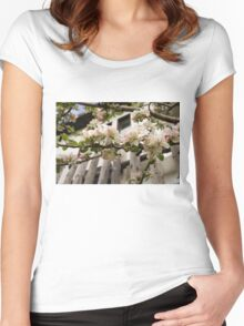 Facades and Fruit Trees - the Villa and the Apple Women's Fitted Scoop T-Shirt
