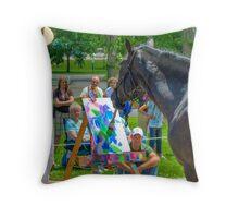 Horse Artist Throw Pillow