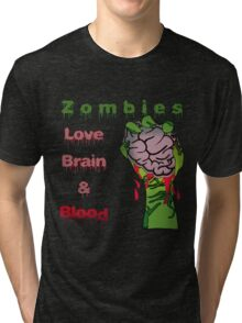 Halloween Night with Zombies Tri-blend T-Shirt