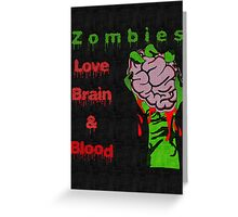 Halloween Night with Zombies Greeting Card