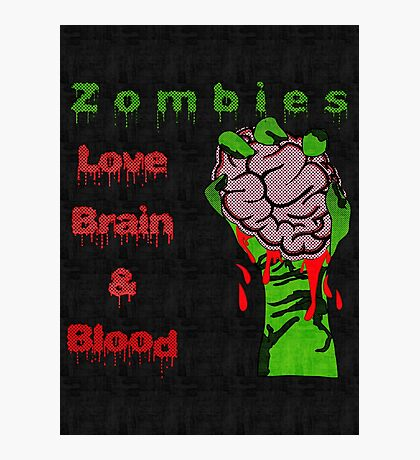 Halloween Night with Zombies Photographic Print
