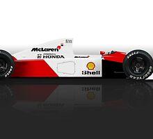 Ayrton Senna - McLaren MP4/6 by JageOwen