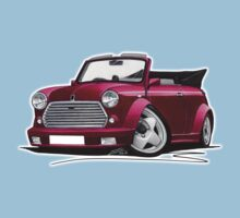 Mini Cabriolet Maroon Kids Clothes