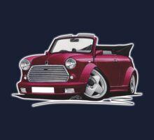Mini Cabriolet Maroon One Piece - Short Sleeve